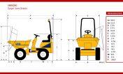 Dimensions-Dumper-giratoire-thwaites-1 tonne