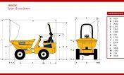 dimensions-dumper-giratoire-thwaites-4,5-tonnes